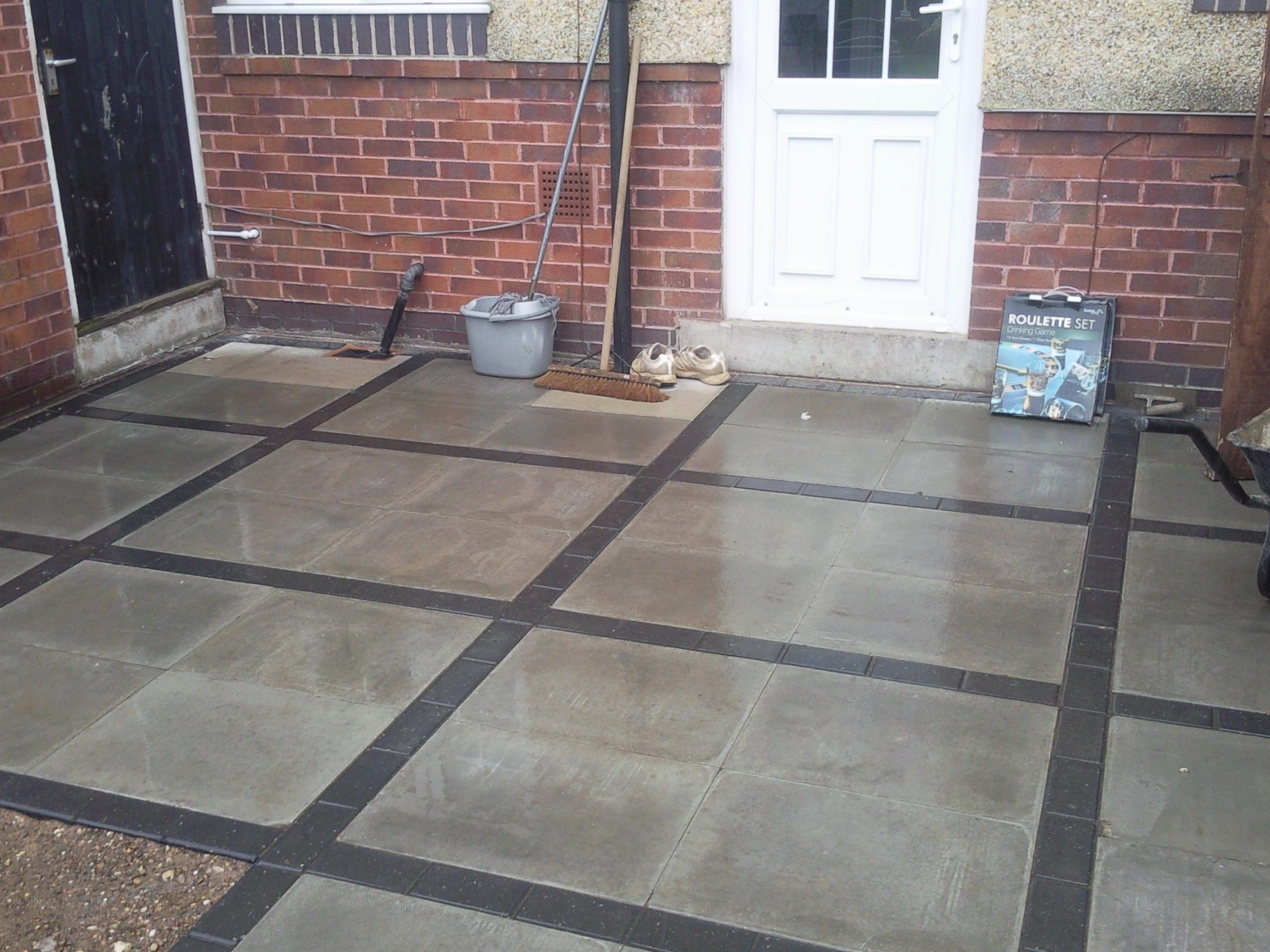 Large Paving Stones Patio Large Concrete Pavers For Patio